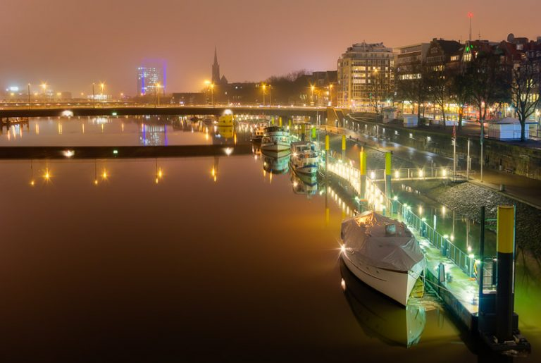 Weser am Abend