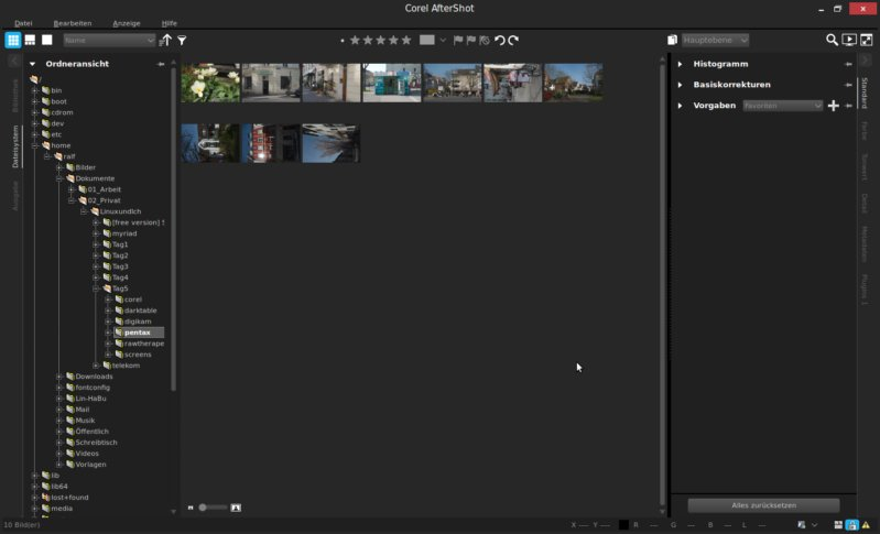 Corel Aftershot Pro 2 - Die Bibliothek