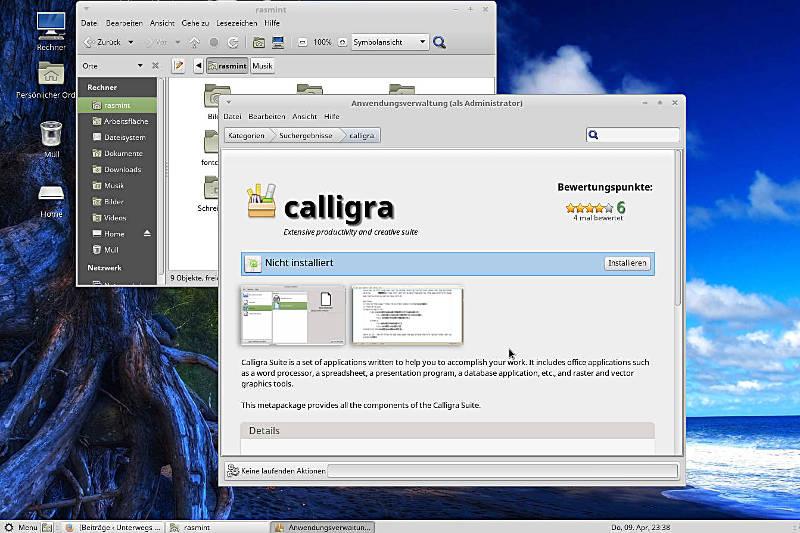 Linux Mint mit der Aktualisierungsverwaltung